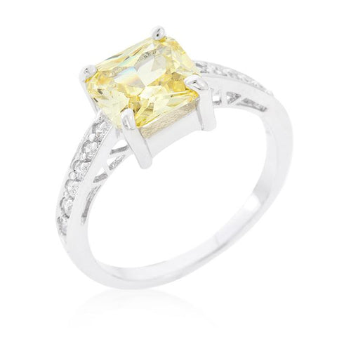 Barrie 2(ct) Canary Princess Solitaire Ring | 2.5ct