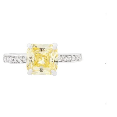 Barrie 2(ct) Canary Princess Solitaire Ring | 2.5ct | Sterling Silver