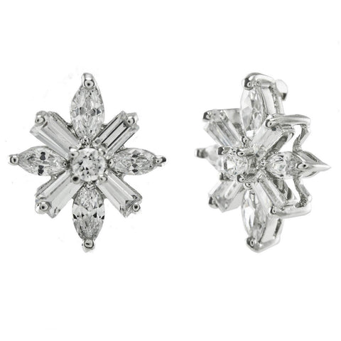 Batini Snowflake Cluster CZ Stud Earrings