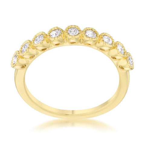 Bea Gold Delicate Band Ring | 0.5ct | Cubic Zirconia | 14k Gold