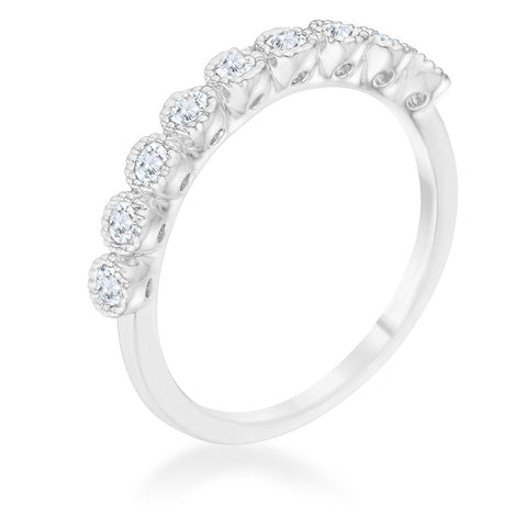 Bea Silver CZ Delicate Band Ring | 0.5ct
