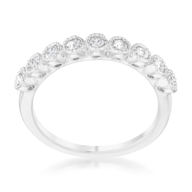 Bea CZ Delicate Band Ring | 0.5ct | Cubic Zirconia - Beloved Sparkles  - 1