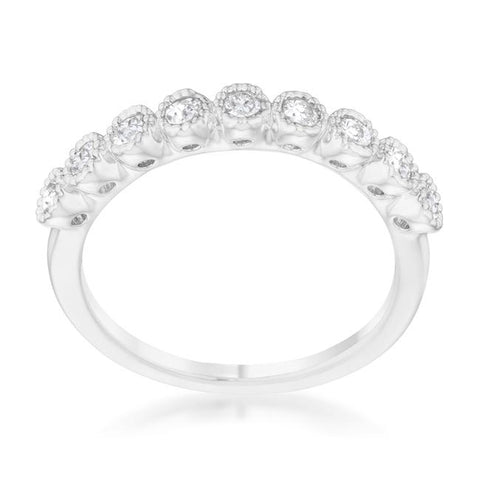 Bea CZ Delicate Band Ring | 0.5ct | Cubic Zirconia | Silver