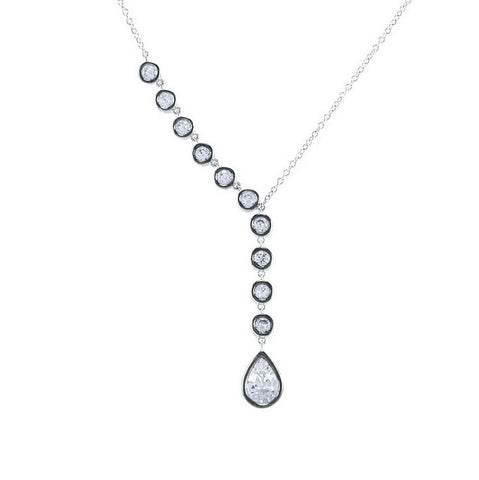 Beatrice CZ Lariat Necklace