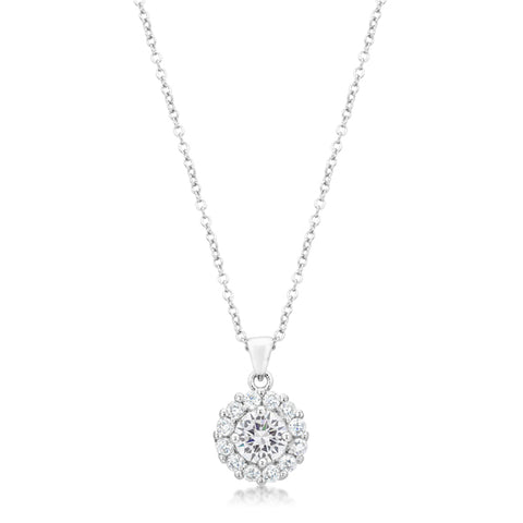 Belle Round Halo Pendant | 4ct