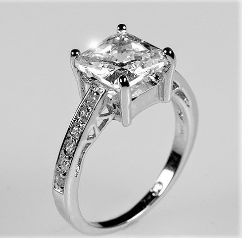 Barrie Princess Cut Solitaire Engagement Ring 2 3ct Sterling Silve Beloved Sparkles