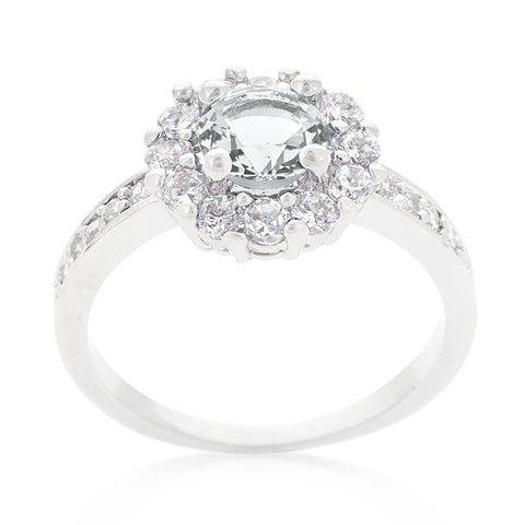 Belle Clear Round Halo Engagement Ring | 2.2ct | Cubic Zirconia - Beloved Sparkles  - 1