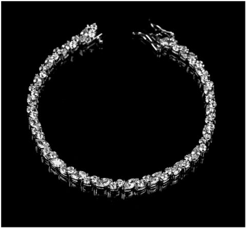 Gloria Marquise Cluster Tennis Bracelet – 7.25in | 18ct