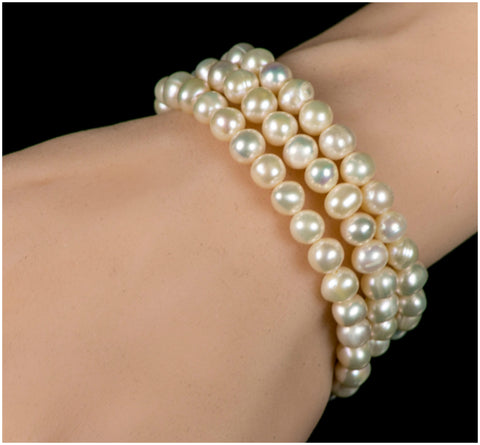 Desiree Vintage Pearl Statement Bracelet – 7.5in