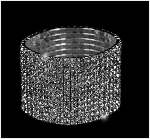Nicky 13 Rows Rhinestone Stretch Bracelet