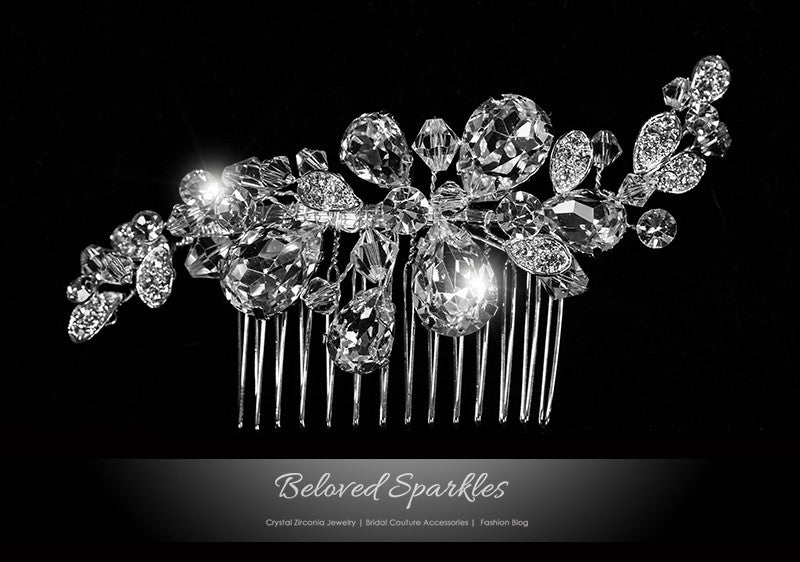 Marcela Morocco Cluster Hair Comb | Swarovski Crystal - Beloved Sparkles