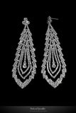 Lorna Cascade Long Chandelier Earrings | Crystal - Beloved Sparkles  - 2