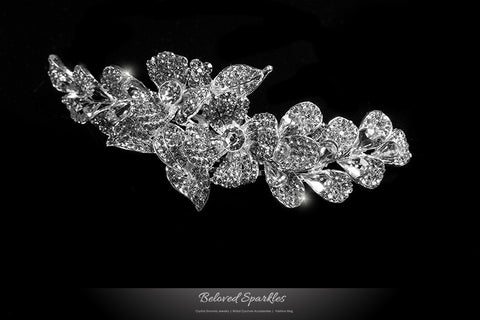 Jetta Delicate Floral Hair Comb | Crystal
