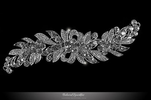 Tracey Ribbon Floral Hair Comb | Crystal - Beloved Sparkles  - 1