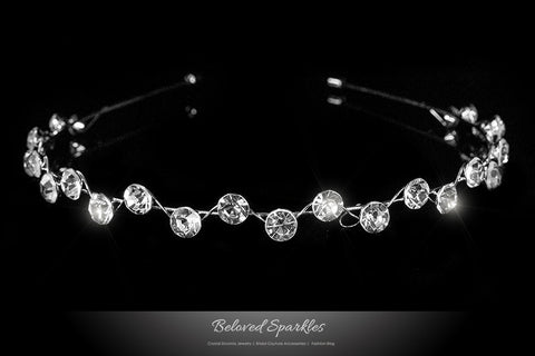 Nahia Solitaire Headband | Crystal - Beloved Sparkles  - 1