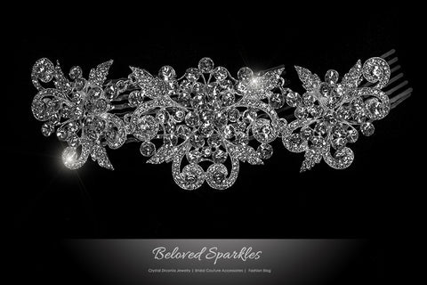 Beatrice Romantic Deco Hair Comb | Crystal