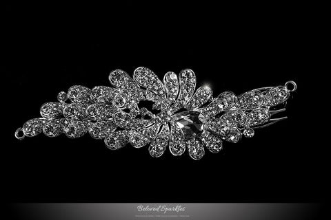 Daisey Bejeweled Floral Hair Comb | Crystal