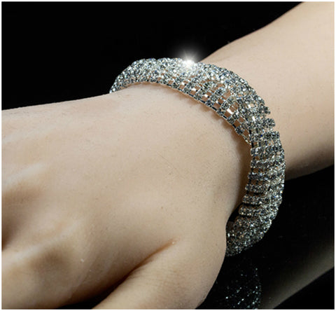 Jebel Romantic Twist Bracelet | Rhinestone
