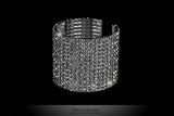 Rione 14 Rows Crystal Cuff Bracelet | Crystal - Beloved Sparkles  - 1