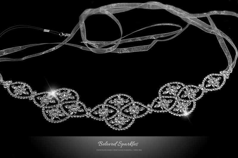 Regina Art Deco Hair Tie Headband | Swarovski Crystal - Beloved Sparkles  - 1