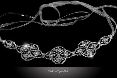 Regina Art Deco Hair Tie Headband | Swarovski Crystal