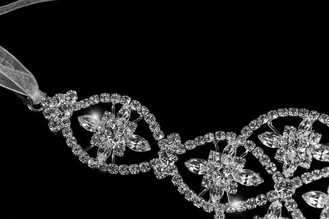 Regina Art Deco Hair Tie Headband | Swarovski Crystal - Beloved Sparkles  - 2