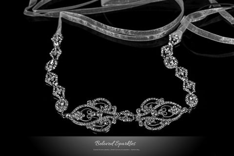 Della Royal Silver Hair Tie Headband | Swarovski Crystal