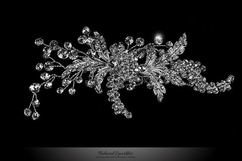 Connie Leaf Spray Hair Clip | Swarovski Crystal