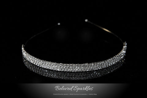 Celes Three Rows Rhinestone Headband | Rhinestone