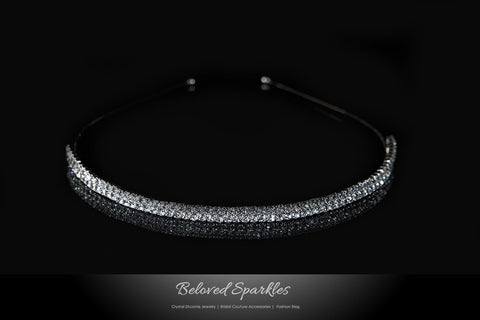 Celes-2 Two Rows Rhinestone Headband | Rhinestone
