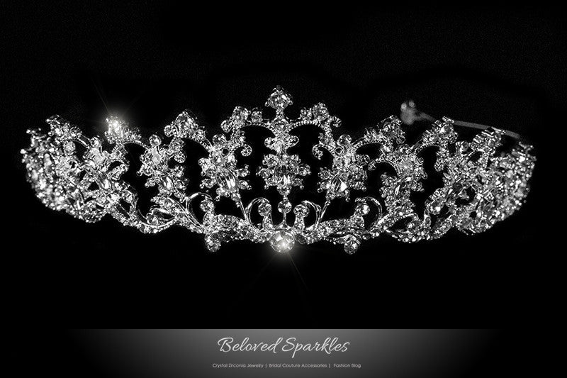 Lynette Vintage Filigree Tiara | Swarovski Crystal - Beloved Sparkles  - 1