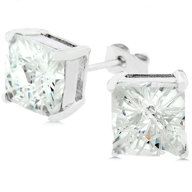 Berkeley Princess Cut Stud Earrings – 8.2mm | 2.5ct