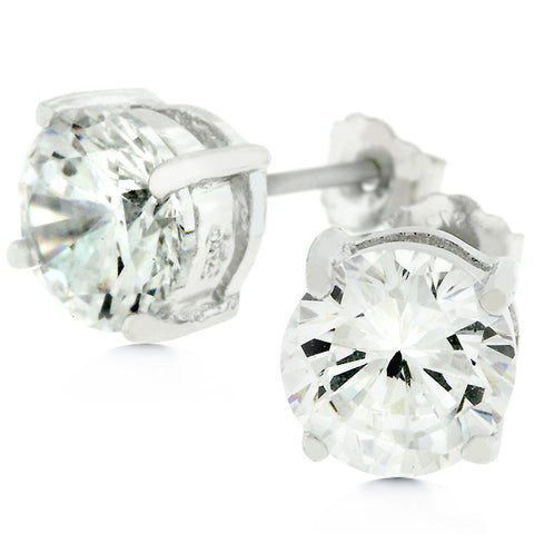 Blossom Round Cut Stud Earrings – 6.25mm | 1ct | Sterling Silver