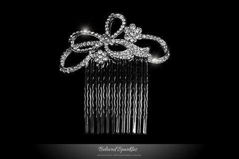 Ondina Petite Ribbon Hair Comb | Crystal