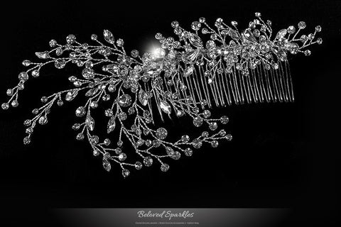 Kori Cluster Spray Hair Comb | Swarovski Crystal - Beloved Sparkles  - 1