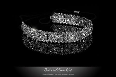 Amica Rhinestone Halo Cluster Stretchable Headband | Rhinestone - Beloved Sparkles  - 1