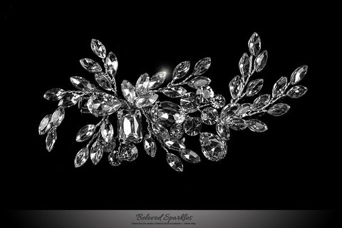 Briana Cluster Hair Clip | Swarovski Crystal - Beloved Sparkles