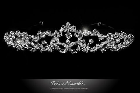 Fiala Classic Art Deco Tiara | Swarovski Crystal - Beloved Sparkles