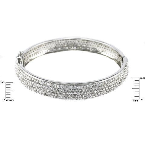 Briera Clear CZ Micropave Bangle Bracelet