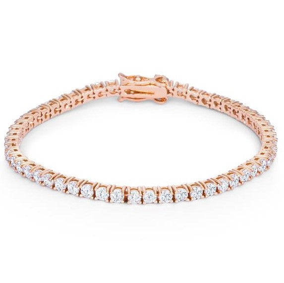 Cassidy Round Rose Gold Tennis Bracelet – 7in | 10ct