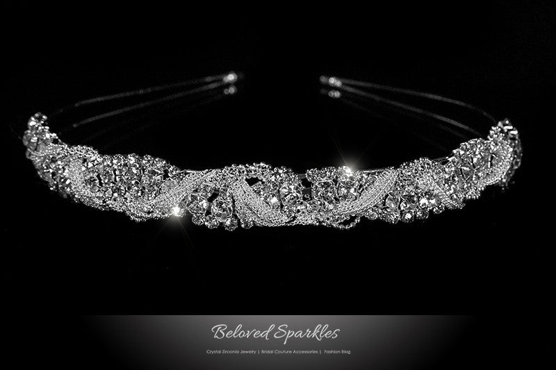 Marvet Chain Cluster Headband | Rhinestone - Beloved Sparkles  - 1