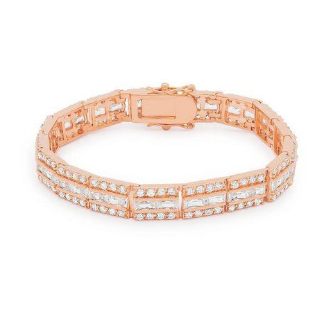 Chante Radiant Cut CZ Rose Gold Tennis Bracelet – 7.25in | 32ct