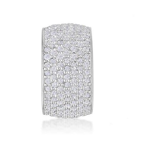 Cherish Wide Pave CZ Eternity Ring | 8ct
