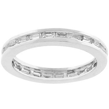 Chela Baguette Eternity Stackable Wedding Ring | 2ct | Cubic Zirconia