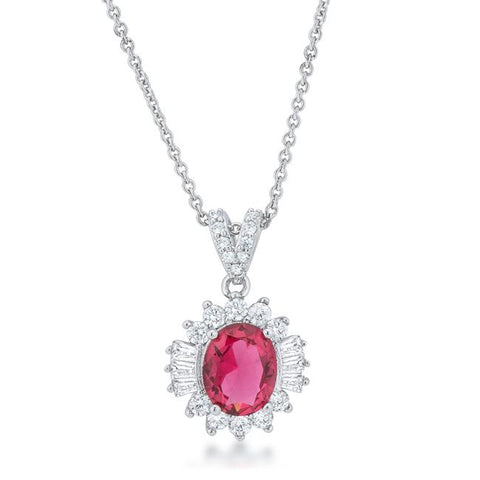 Chrisalee Ruby Red Classic Cluster Pendant | 4.5ct