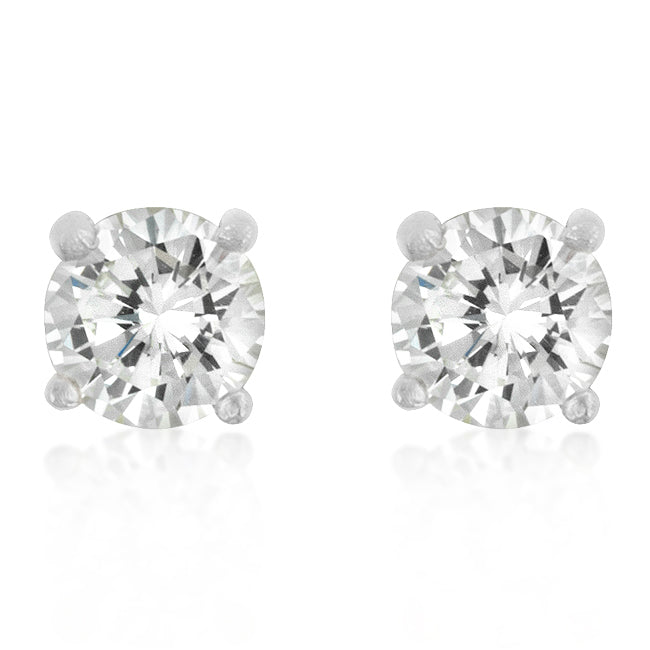 Christa Round Cut Stud Earrings – 5mm  | 1ct | Sterling Silver