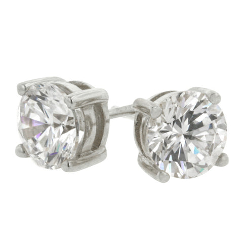 Christa Round Cut Stud Earrings – 6mm  | 1.5ct | Cubic Zirconia | Sterling Silver