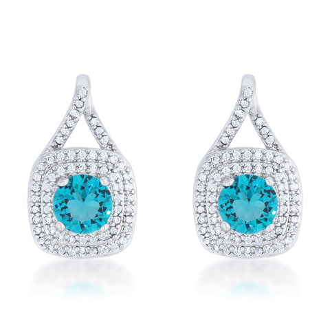 Christal Aqua Blue Classic Vintage Drop Earrings | 2.5ct | Cubic Zirconia