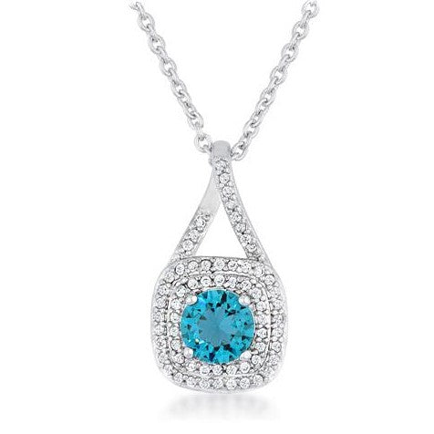 Christal Aqua Blue Pendant | 3ct