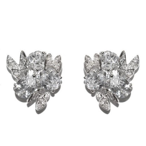 Cilla Vintage CZ Cluster Stud Earrings